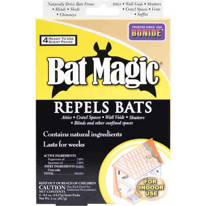 1Pkg Bat Magic 4/pk Repellent Bonide