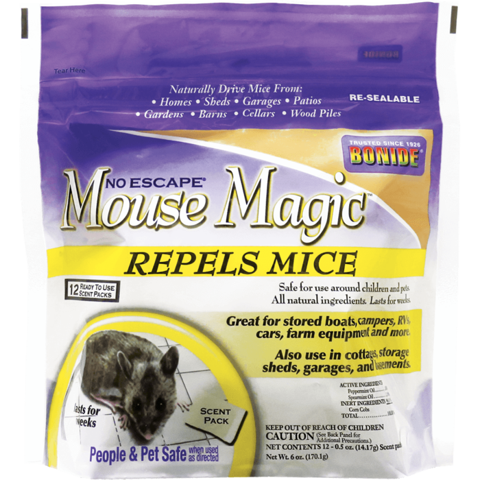1Pkg Lrg Mouse Magic 12/pk All Natural Repellent Bonide