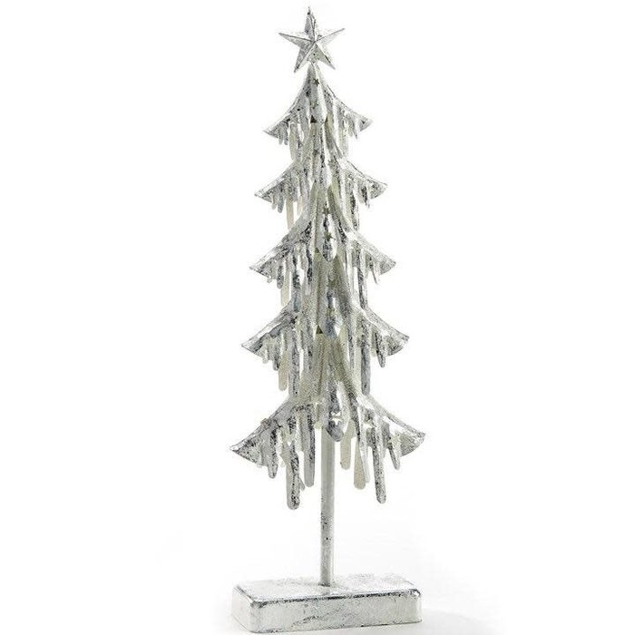 Christmas Decor Tree w/LED Lights 6x2x18 Metal