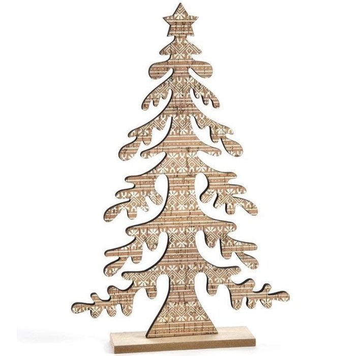 Christmas Decor Tree w/Pattern 9x14 Wood