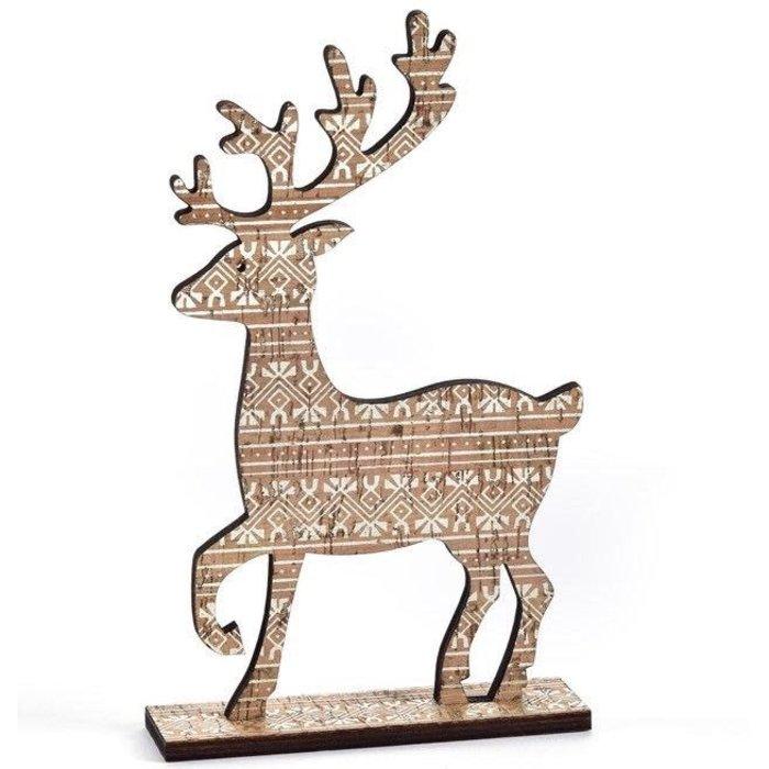 Christmas Decor Deer w/Pattern 5x9 Plywood