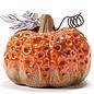Fall Decor Statuary Pumpkin 3x3x2.75 Ceramic