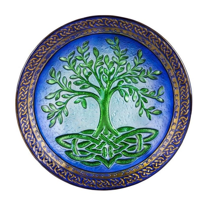 Birdbath Top/Dish Tree of Life Food Grade Glass 18""