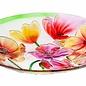 "Birdbath Top/Dish Poppies Food Grade Glass 18"""