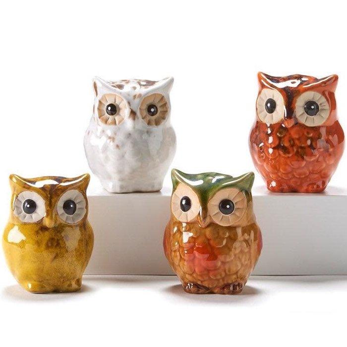 Statuary/Figurine Owl 2x3 Asst