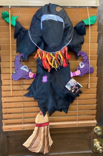 Halloween Decor Door Witch Crash Course Hazel