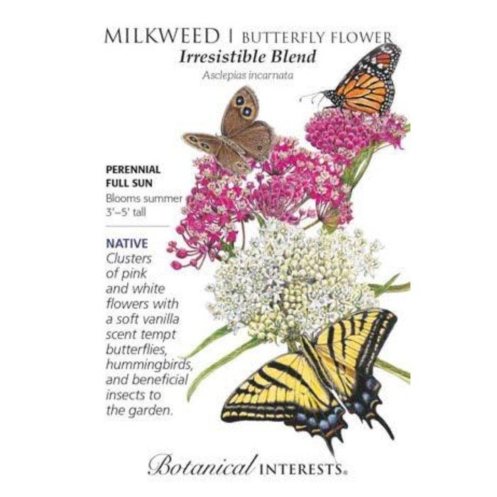 Seed Milkweed Butterfly Flower Irresistable Blend Heirloom Native - Asclepias incarnata
