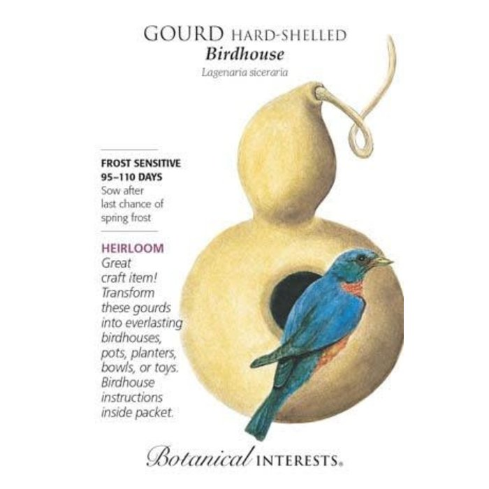 Seed Gourd Hard-Shelled Birdhouse Heirloom - Lagenaria siceraria