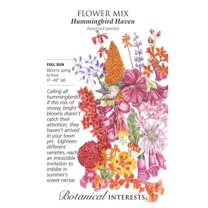 Seed Flower Mix Hummingbird Haven - Assorted species - Lrg Pkt