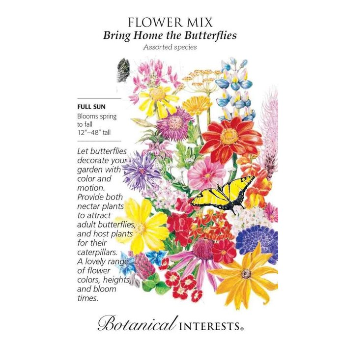 Seed Flower Mix Bring Home the Butterflies - assorted Lrg Pkt