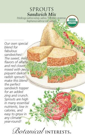 Seed Sprouts Sandwich Mix Organic - Assorted species - Lrg Pkt
