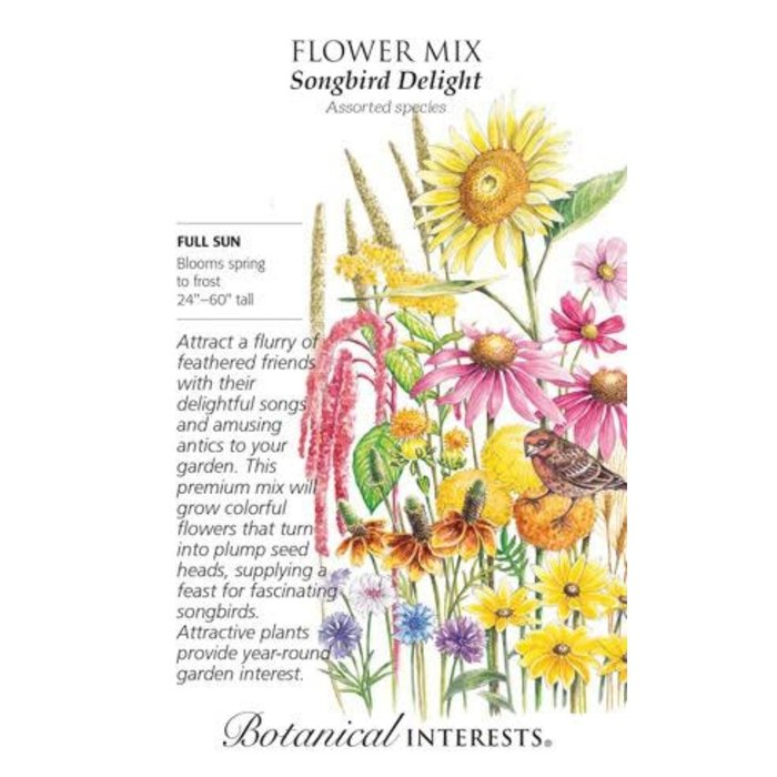 Seed Flower Mix Songbird Delight - Assorted species - Lrg Pkt