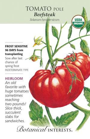 Seed Tomato Pole Beefsteak Organic Heirloom - Lycopersicon lycopersicum