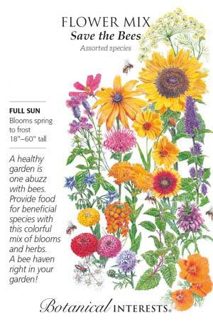 Seed Flower Mix Save the Bees - Assorted species