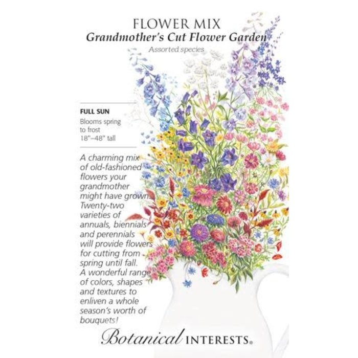 Seed Flower Mix Grandmothers Cut Flower Garden - Assorted species - Lrg Pkt