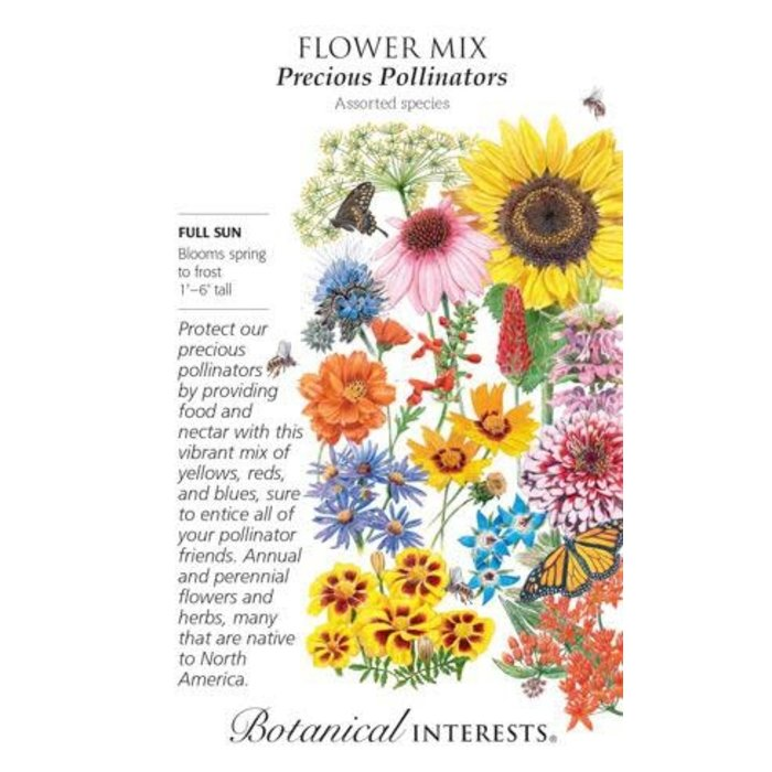 Seed Flower Mix Precious Pollinators - Assorted species - Lrg Pkt