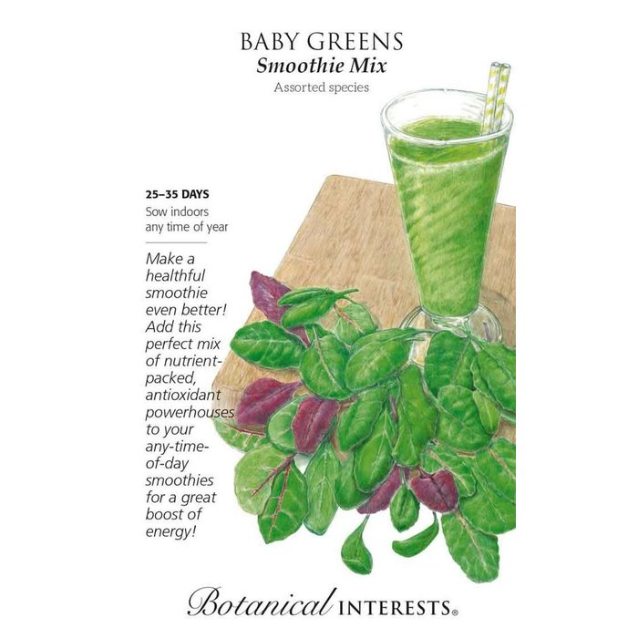 Seed Baby Greens Smoothie Mix - assorted Lrg Pkt