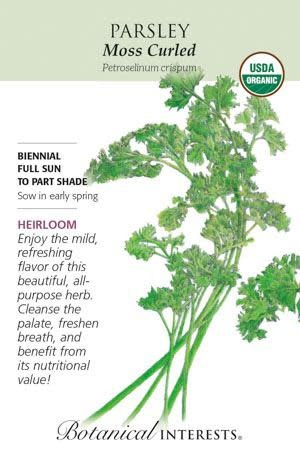 Seed Parsley Moss Curled Organic Heirloom - Petroseelinum crispum
