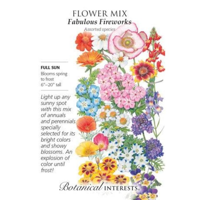 Seed Flower Mix Fabulous Fireworks - Assorted species