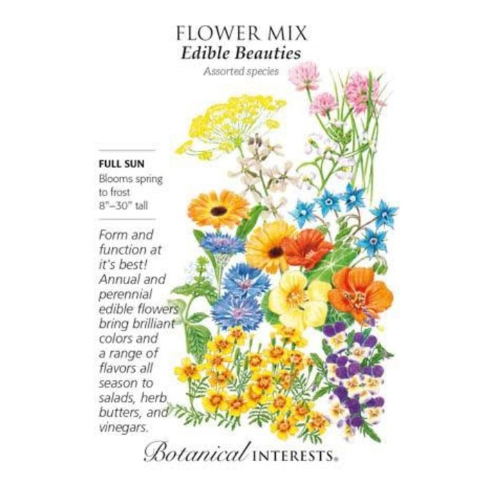 Seed Flower Mix Edible Beauties - Assorted species