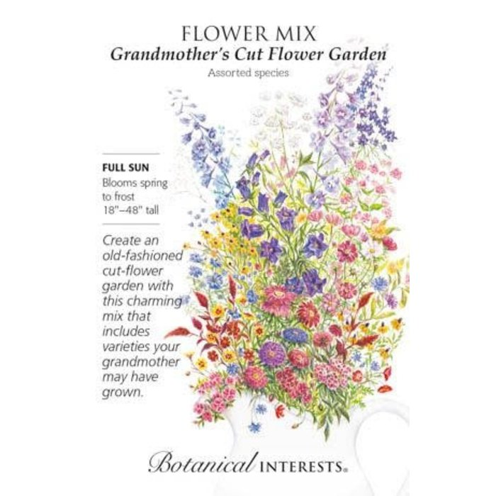 Seed Flower Mix Grandmothers Cut Flower Garden - Assorted species