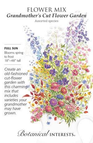Seed Flower Mix Grandmothers Cut Flower Garden - Assorted species
