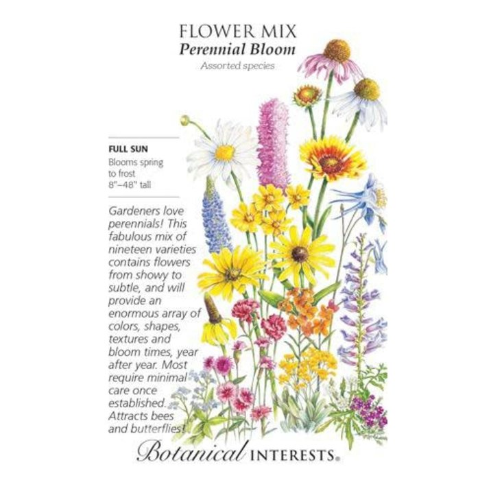Seed Flower Mix Perennial Bloom - Assorted species - Lrg Pkt