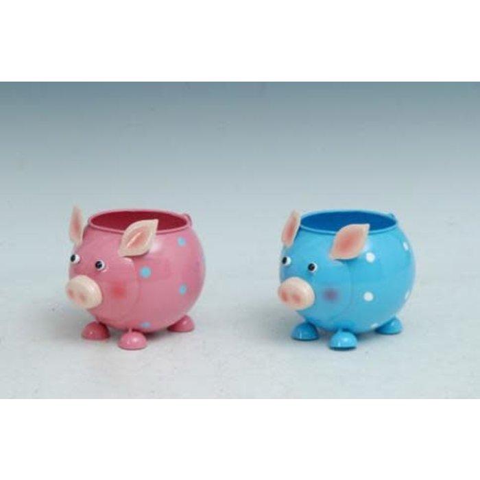 "Pot Pig Standing Planter Metal Multi-Color (pot 3"") 6x4x4"