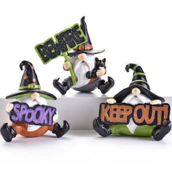 Halloween Statuary/Figurine Gnome 4x2x4 Asst