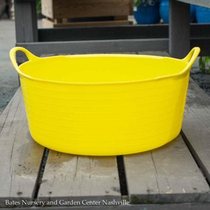 3.9Gal/15L Tubtrug Flexible Small Shallow Bucket - Yellow