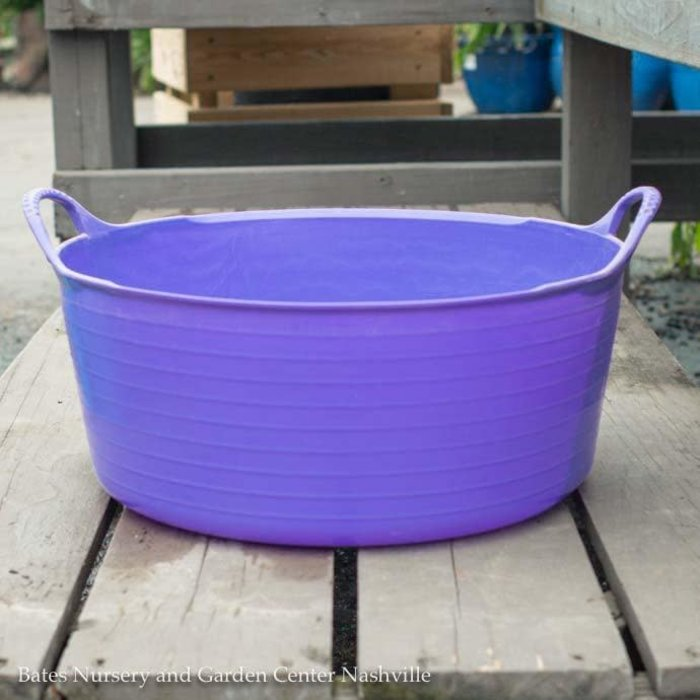 3.9Gal/15L Tubtrug Flexible Small Shallow Bucket - Purple