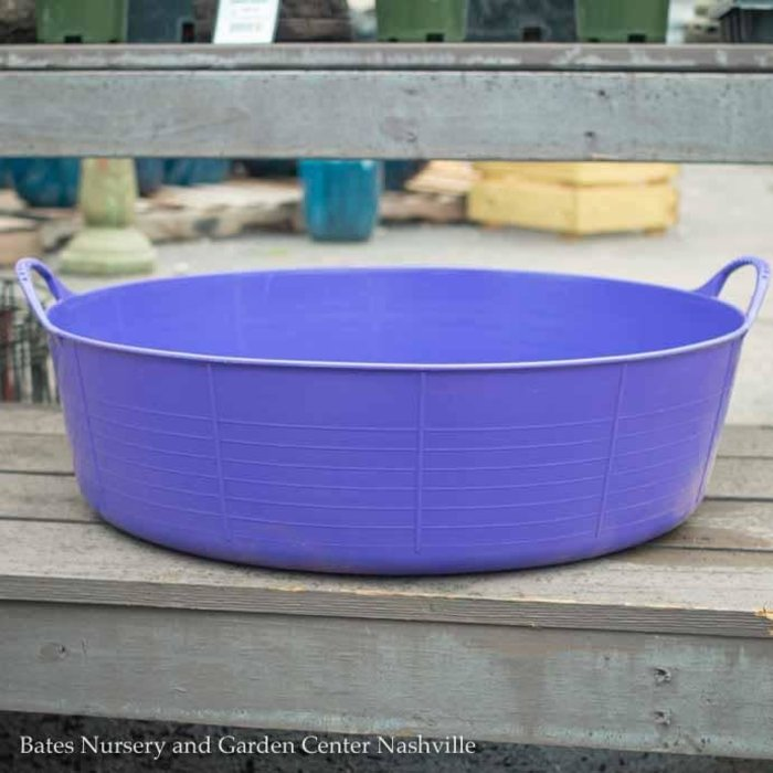 9.2Gal/35L Tubtrug Flexible Large Shallow Bucket - Purple