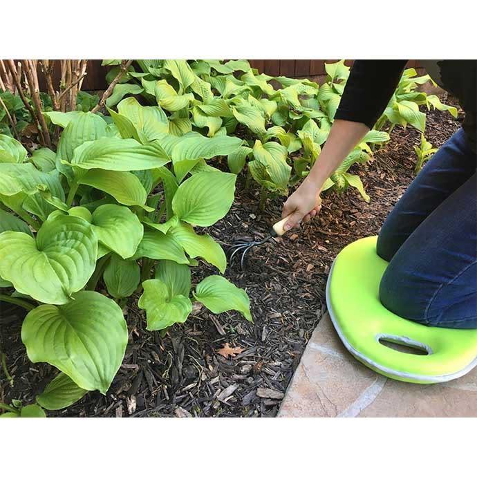 Kneeling Pad Green Garden Memory Foam