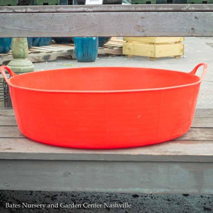 9.2Gal/35L Tubtrug Flexible Large Shallow Bucket - Red