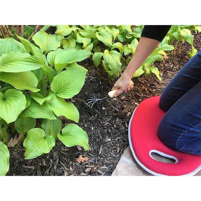 Kneeling Pad Red Garden Memory Foam