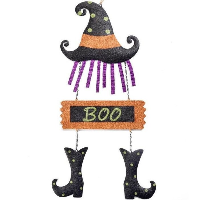 Halloween Sign Witch Boo 11x24 Metal