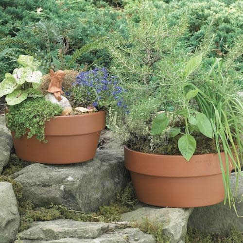 """Pot 10"""" Small Garden /Bulb Container Red Clay / Terracotta"""