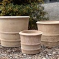 Pot Mila Double Ringed Cylinder Lrg 17x15 Antique Terracotta