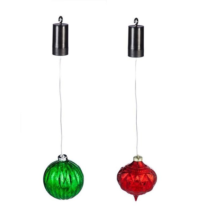 "5"" LED Hanging Ornament Red / Green"