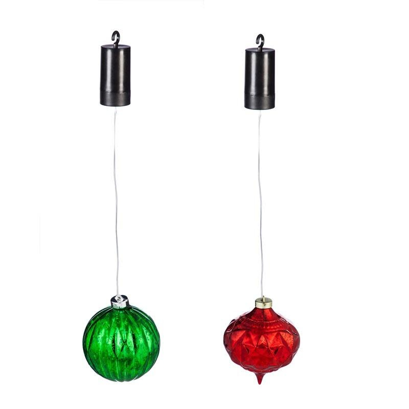 """5"""" LED Hanging Ornament Red / Green"""