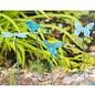 """Plant Pick / Garden Stake Bird/Btrfly/Drgfly/Hbird Blue Patina Metal 27""""H Asst"""