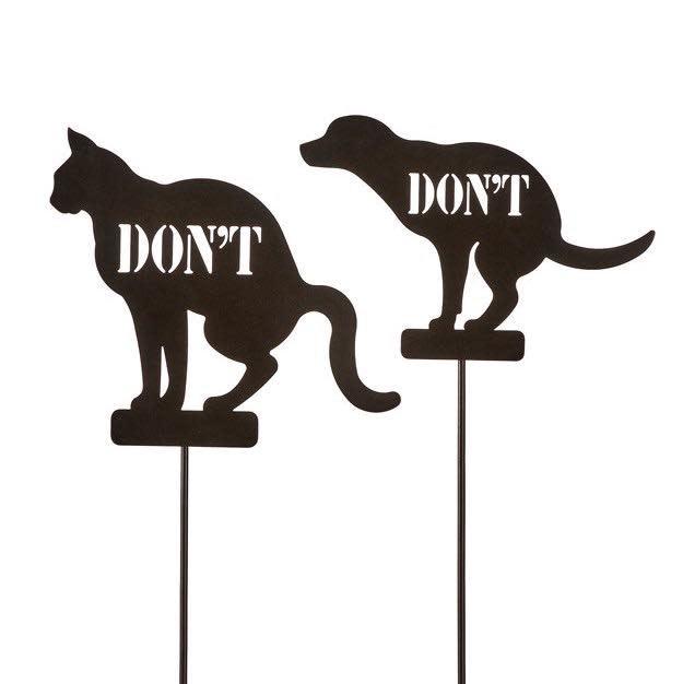 Garden Stake / Plant Pick Don't Cat/Dog 6x23 Asst