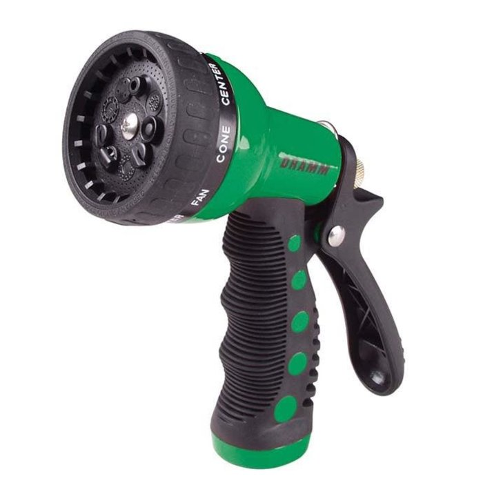 Dramm Revolver 9 Position Spray Nozzle Green Carded