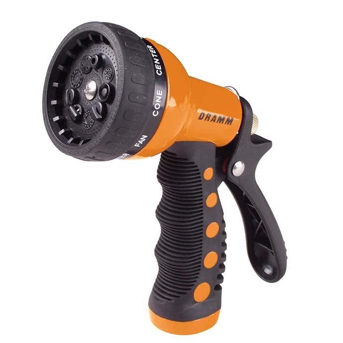 Dramm Revolver 9 Position Spray Nozzle Orange