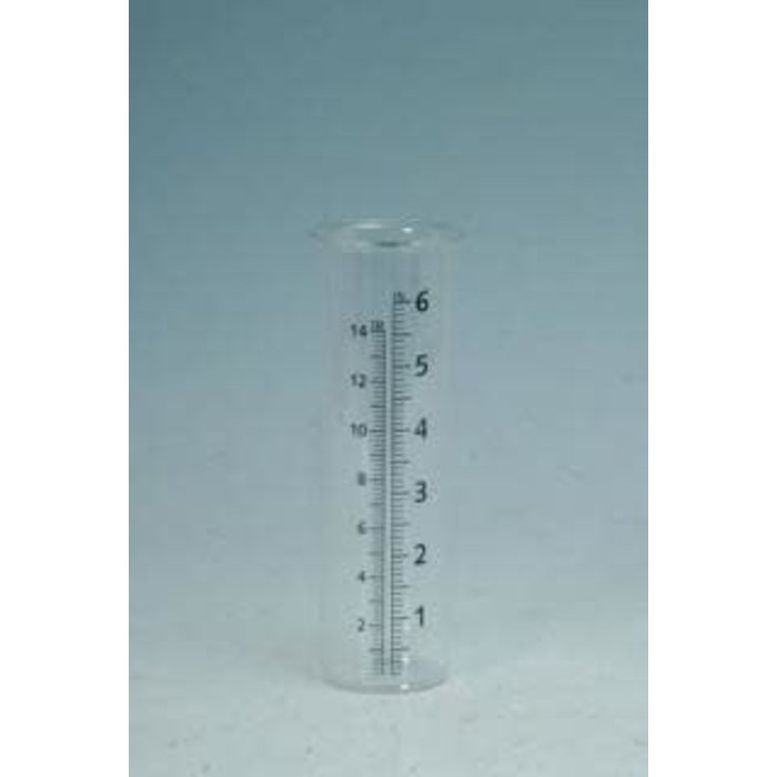 Replacement Glass Rain Gauge 2x7