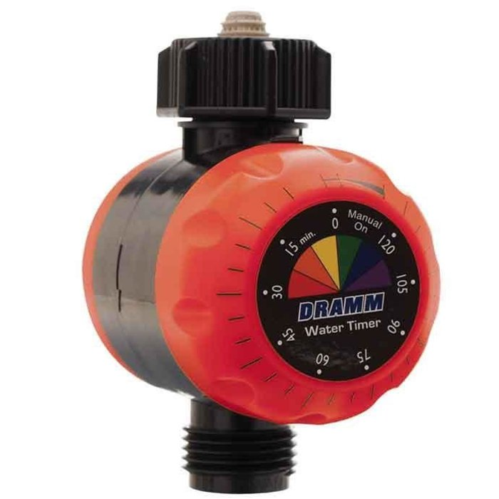 Water Timer ColorStorm Mechanical Dramm Red