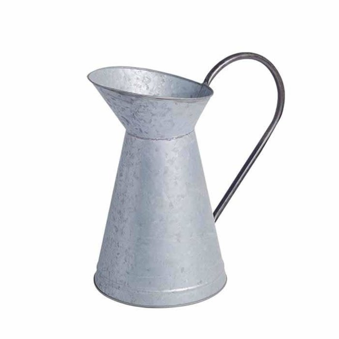 Watering Can / Pitcher 1/2 Gal Aged Zinc