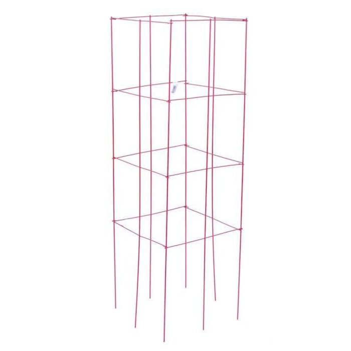 "Tomato Tower/Cage / Plant Support 47"" Red Panacea"