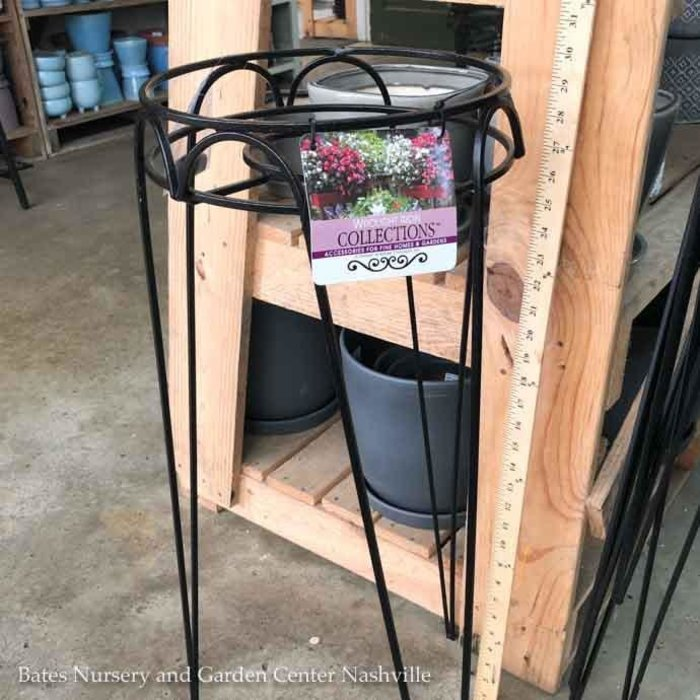 "Plant Stand Hampton 30"" Black Metal"