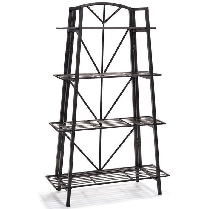 Tapered Rack 4-Shelves Metal 33x12x53